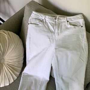 Missimo white crop jeans